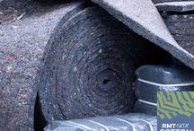 Aislantes sostenibles / Aislantes naturales y ecológicos para la construcción, de lana de oveja, algodón reciclado, cáñamo y lino.