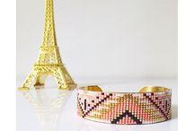 Bracelet de perles tissées