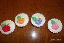 Flores en fondant para Cupcakes / Flores en fondant para decorar tus cupcakes