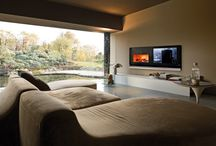 Fireplaces and Television / #Wood Burning #Fireplaces with Television. #interiordesign #inspiration for  #modern and #contemporary #interiors  and  #livingspace in your home