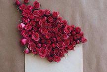 Sobres y flores