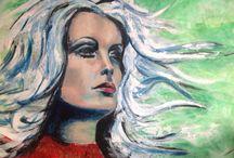Portraits by Meriam van Ravesteyn / Mixed media paintings, portraits, contemporary art, acrylic