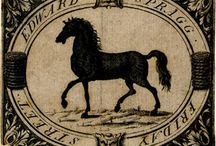 Trade Cards with Horses