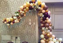 Organic Balloon Decor