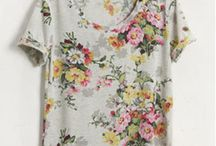 Florals / Flowers on clothing, floral patterns.