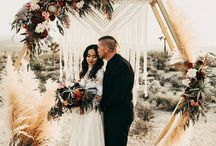Wedding backdrops, arches & floral installations / Inspiration for creating a gorgeous focal point with wedding arches and unique ceremony backdrops.