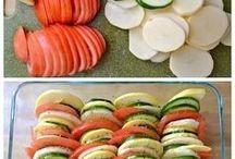 Courges gratin de legumes