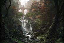 Fantasy places & human