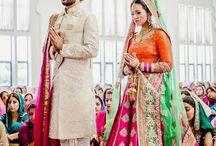 #Punjabi  #couple  #now  #front  #way  #sherwani  #lehenga  #BABA JI  #Gurudwara  #pagdi  #choora  #canon #bless  #click / Gurudwara
