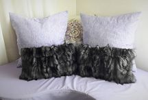 FUR CUSHIONS, DECORATIVE PILLOWS FOR LIVING ROOM OR BEDROOM