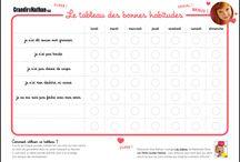 LE TABLEAU DES BONNES HABITUDES