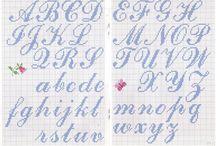 letras en punto de cruz