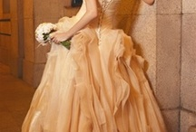 Champagne Gold, Peach and  Coral Inspiration / Just a little inspiration