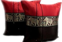 Thai Cushion Covers by Amazon / Made from Satin-Silk these cushion covers feature traditional Thai designs and will compliment many modern or traditional home decor schemes