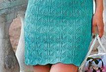 Вязание спицами. Платье.