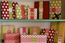 Wrapping packages / by Kimberly Ward