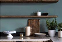 Brun kjøkkendrøm- stua & kjøkken