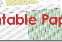 Papierowe arkusze