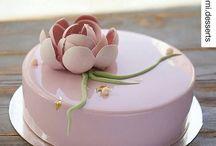 Mirrored cake