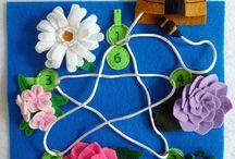 Quietbooks - Kindergartenkinder / Quietbookideen für Kindergartenkinder (3-6)