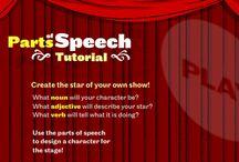 language arts: grammar / parts of speech + punctuation