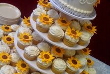 70th wedding anniversary cake and cupcakes