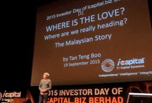 2016 Investor Day of icapital.biz Berhad / 2016 Investor Day of icapital.biz Berhad (ICAP) is coming. The Investor Day extends beyond providing interactive investment-related sessions. In 2015, over 11,000 people registered for the 2-day event, where we shared the past and future stories of Malaysia and discussed key economic issues & value investing. This year, what do you want to hear from Teng Boo and his team at Capital Dynamics? Email us your ideas and suggestions at info@cdam.biz by 11th June 2016 & get a gift from our mystery box.