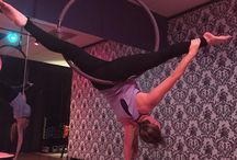 Aerial silk- hoop- and trapeze