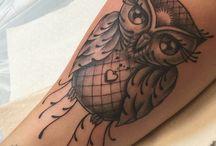 Tatuaggi di gufi