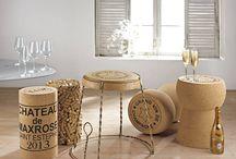 Vinný nábytek a korkové vychytávky