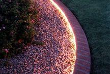 Backyard Ideas / Gardens, lighting, planters, etc