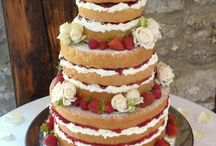 Naked and Natural Wedding Cakes / Its how nature intended with these beautiful Boho cakes!