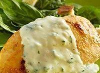 pechuga de pollo con salsa de espinaca