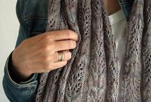 Knitted scarves and ponchos