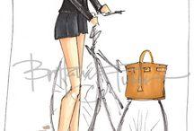 Britanny Fuson Fashion Drawings