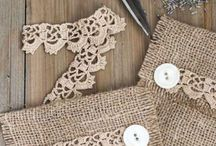 burlap / DIY, decorating and craft ideas made with burlap. Because burlap makes everything better, right?