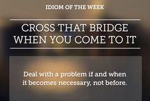 English idioms, proverbs, sayings