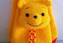 Crochet backpack/mochilas