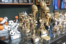 Sports Awards / Lou Scalia's Awards has been producing sports awards for over 50 years; figurine trophies, athlete medals, sports cups, award ribbons, resins and all other sports awards.