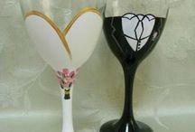 Wedding Glasses For Bride And Groom Diy