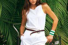 Moodboard : Mode tennis / Collection d'inspirations avec la modèle Charlène Paradis et le photographe Christian Baron