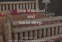 Bible Verses and Words that Inspire / #Inspiration from the Bible and great men and women along with gorgeous pictures of Rocky Top Furniture.