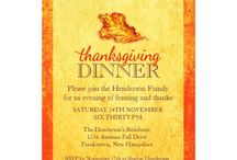 Invitations : Thanksgiving Dinner / here are some Thanksgiving Dinner party invitations to send to your friends or family ... click on the larger images to personalize the invitation and get pricing information ...