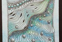 Petits tableaux zentangles