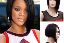 Rhiana Wigs straight short