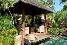 pool huts