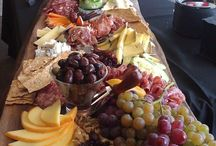Cheese and bread platters