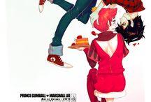Prince Gumball x Marshal lee / Boy x boy ( Marshal and Gumball )