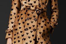 Burberry heart print trench