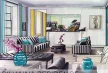Home decor sketches in style / All about interior home decor styles